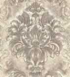 Blumarine Home Collection No. 2 Wallpaper Panel Sogno Barocco Tortora BM25208 or 25208 By Emiliana For Colemans